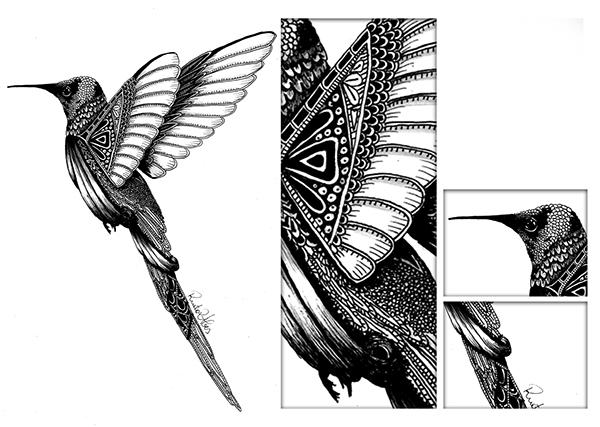 Illustration, Ink pen