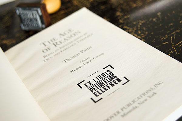 Rubber Stamp  stamp Ex Libris  bookplate  Books  typography
