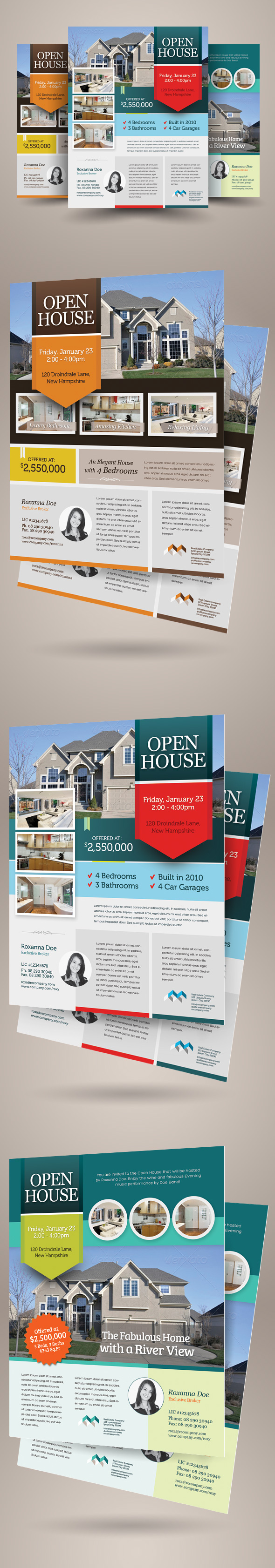 Real Estate Open House Flyers on Behance – Real Estate Open House Flyer Template