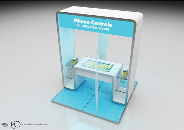 infopoint desk design isola