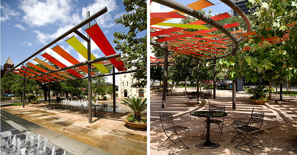 Main plaza san antonio tx on the national design awards for Shade cloth san diego