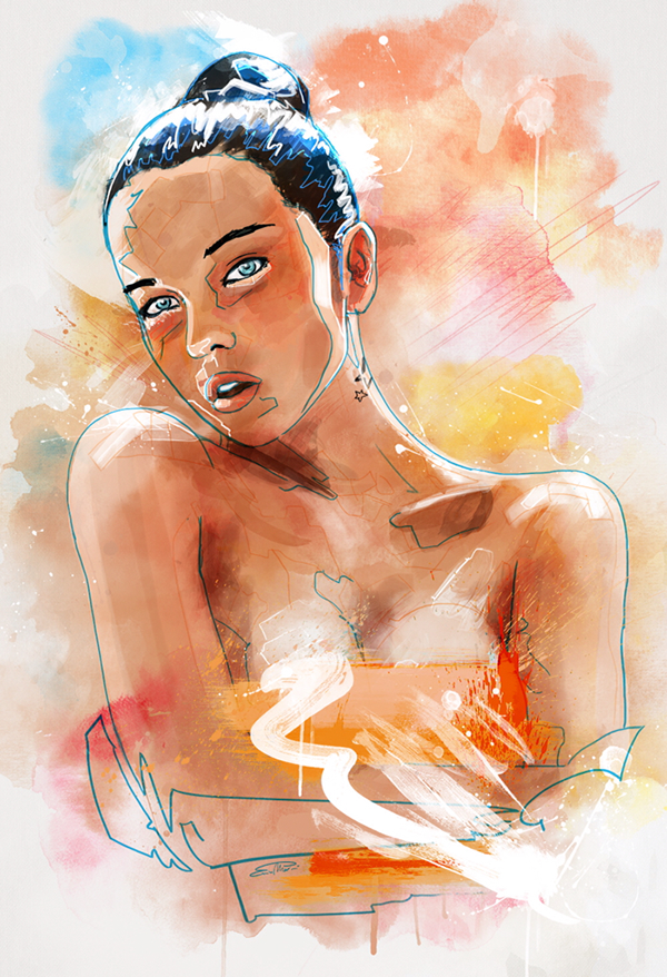 paints digitalart enricomanini paint4wall poster wacom Intuos