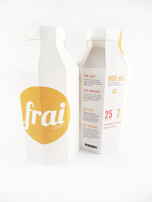 Frai package design and brand on pantone canvas gallery