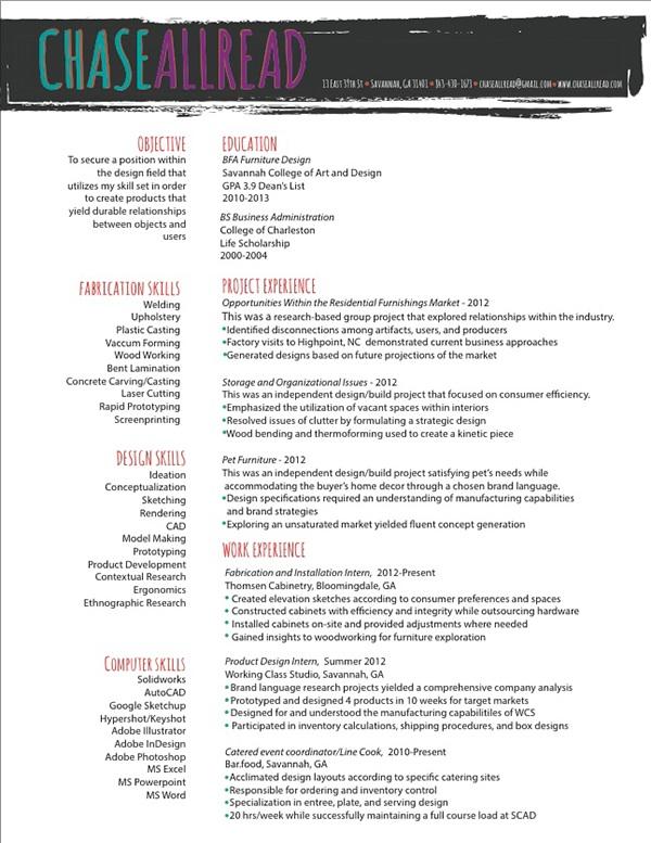 Resume Interior Design Resume Exles Designer Resumes Interior Design ...