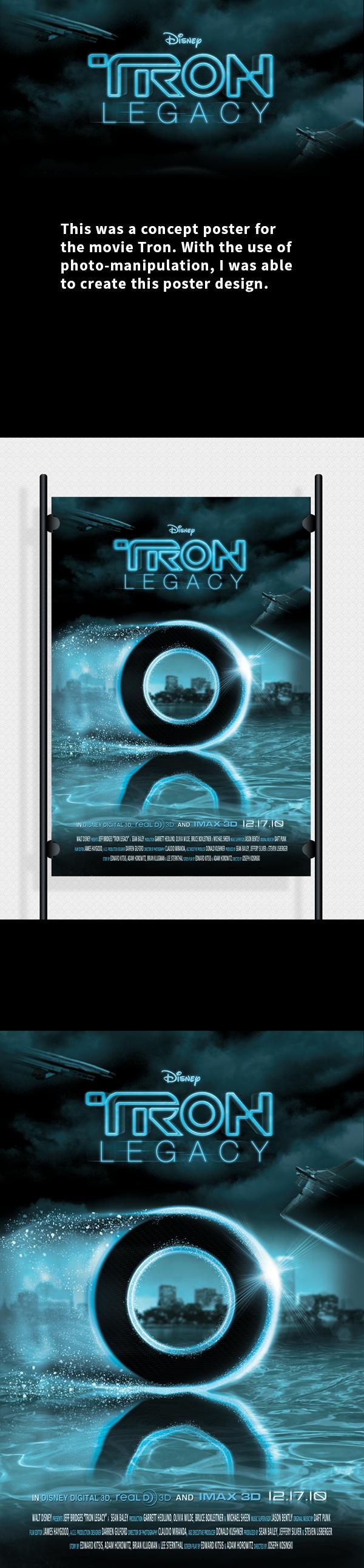 Tron movie poster shop