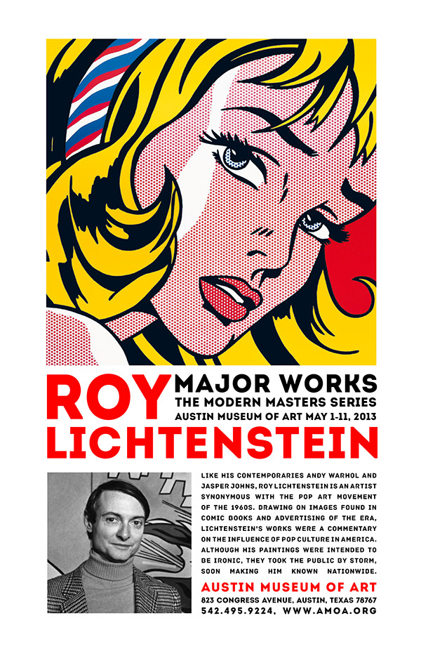Roy lichtenstein museum poster on behance for Poster roy lichtenstein