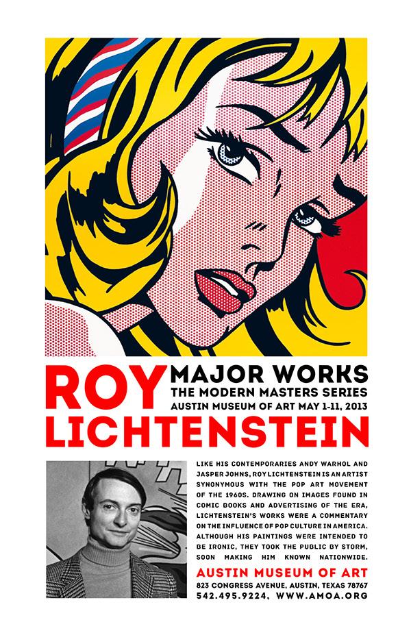 Roy Lichtenstein Museum Poster on Behance