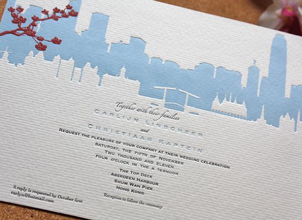 Skyline Lovers Wedding Invitation On Behance