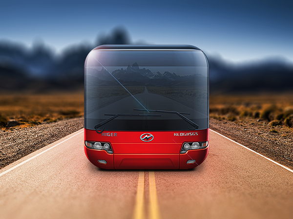apple iphone iPad art Computer graphics concept effect lighting clear detail ios Icon bus