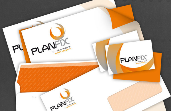 Skydiving Logotype planfix Graphic Systems