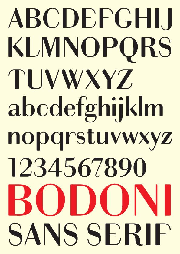 Bodoni Sans Serif on Behance