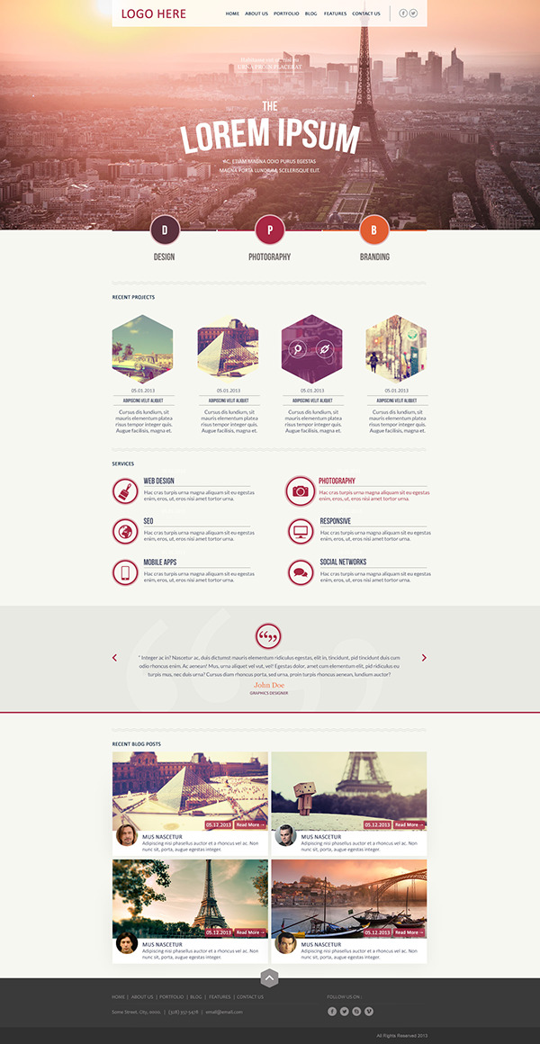 Hexagonal unique business portfolio template on behance cheaphphosting Image collections