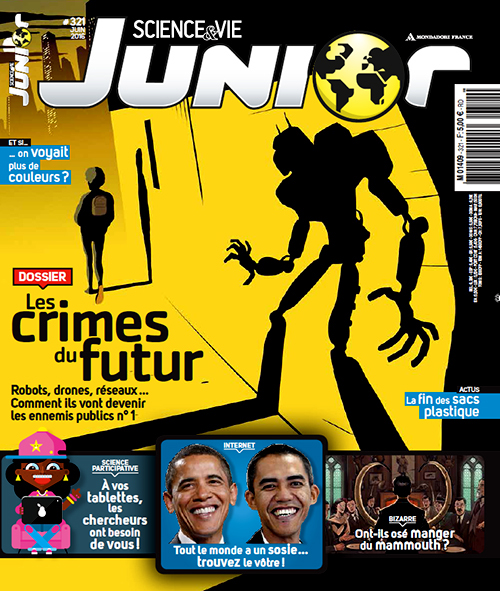 edition crime science robot android future kid magazine cover