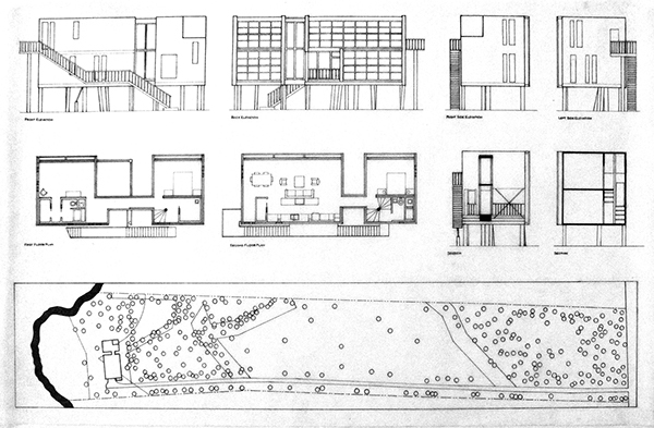 Plan Section Elevation Drawings : Loblolly house case study on philau portfolios