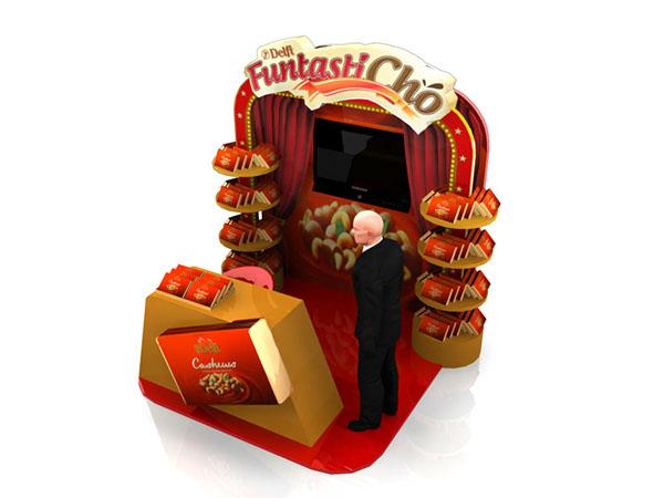 Mini Booth Design Chocolate Mini Booth on