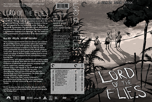 lord of the flies criterion dvd cover design adobe design