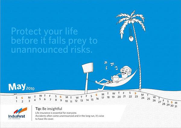 INDIA FIRST LIFE INSURANCE Financial Calendar on Behance