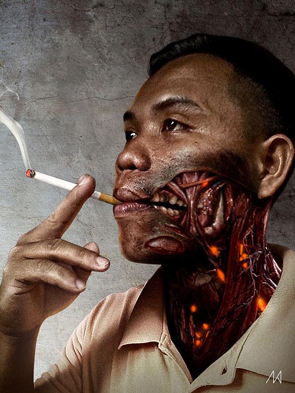 smoke Photo Manipulation  smoking poster