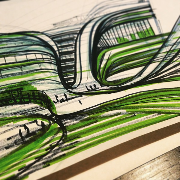 architectural sketching | graphics sketch