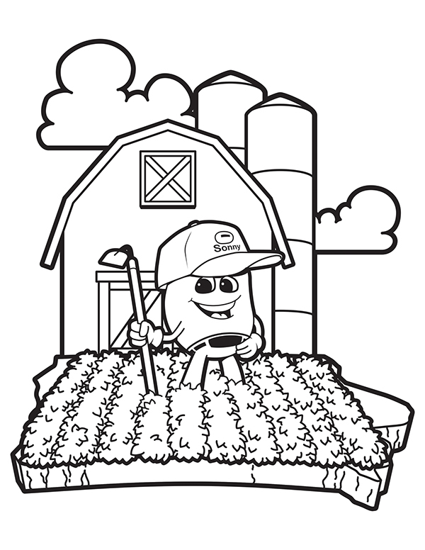 Iowa soybean association coloring book on behance for Iowa coloring pages