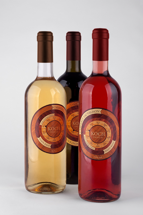 Koch wine labels on behance for Koch 3 winde