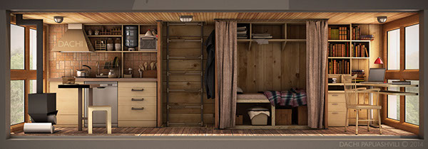 skit cross micro house tiny house container