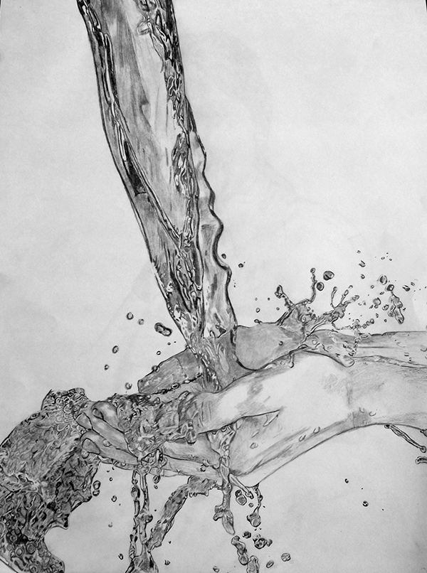Water Splash Drawing on Behance