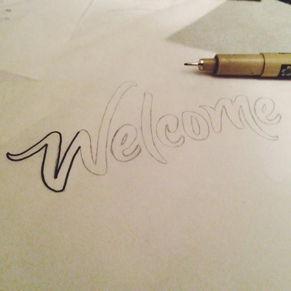 type design lettering Handlettering custom type Custom personal project type design texture simple minimal