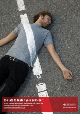 United Nations Road Safety Social Issues Speeding Drink-driving Seatbelt Helmet Visibility campaign World Health Organisation