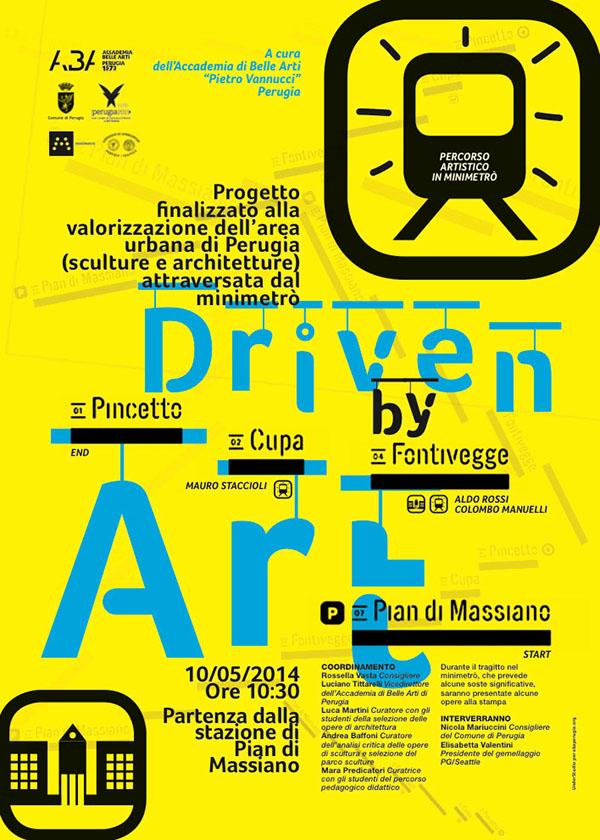 Accademia Belle Arti Minimetrò Perugia Francesco Mazzenga poster Luciano Tittarelli Driven by Art scultura architettura