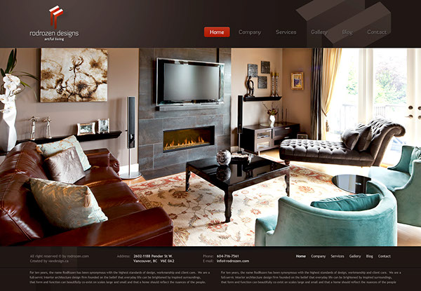Interior design company website on behance for Interior design business website