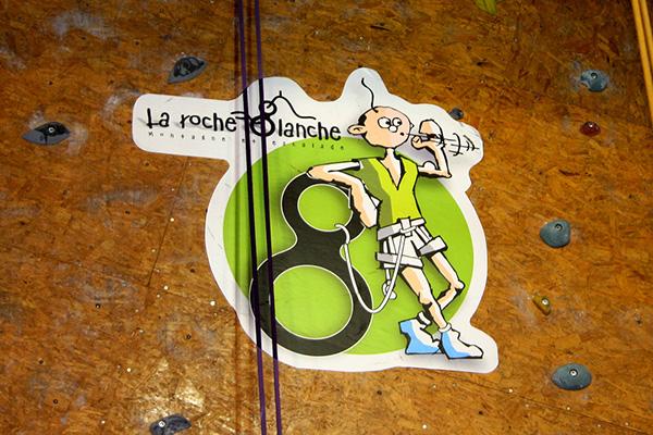 escalade climbing club roche blanche logo Logotype image dessin
