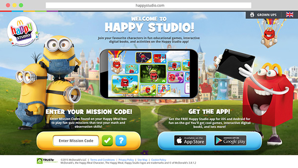 Happy Studio site and app on Pantone Canvas Gallery