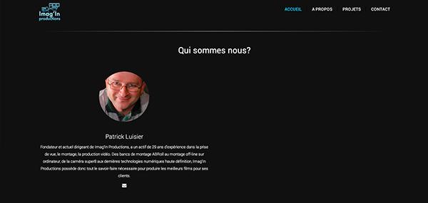 Imag'in productions Switzerland Web design UI ux