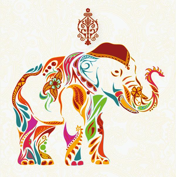 Traditional Indian Elephant Motifs Elephant Motifs on Beh...