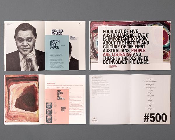 brochure reconciliation indigenous Australia Stories Portraiture art political transcripts conversations