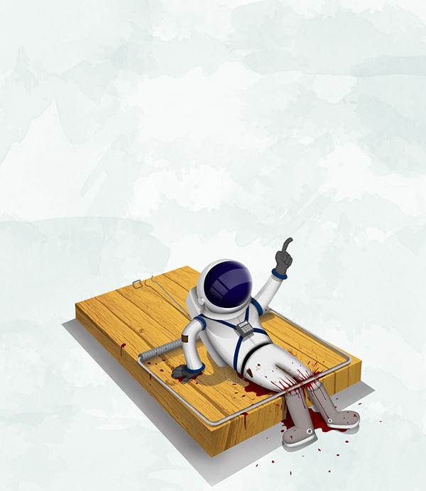 Trapped cosmonaut by Steve Babic