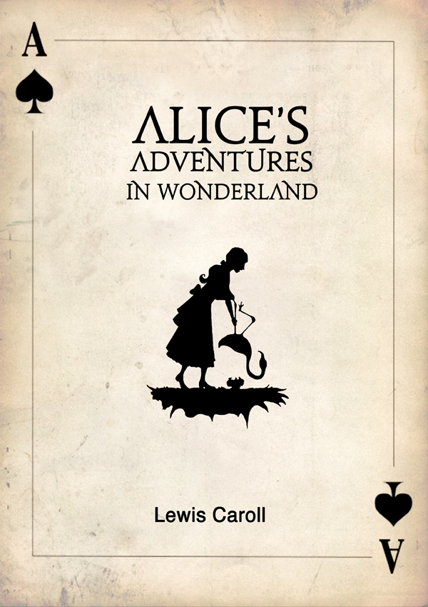 Book Cover Drawing Quotes : Quot alice in wonderland book cover on behance