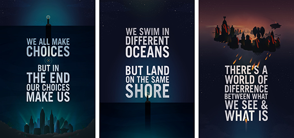 bioshock quote posters on behance