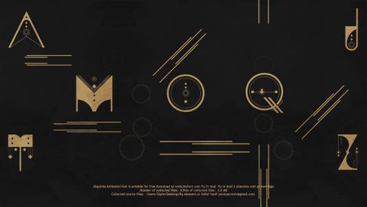 alquimia Paratov animated font animated type type font