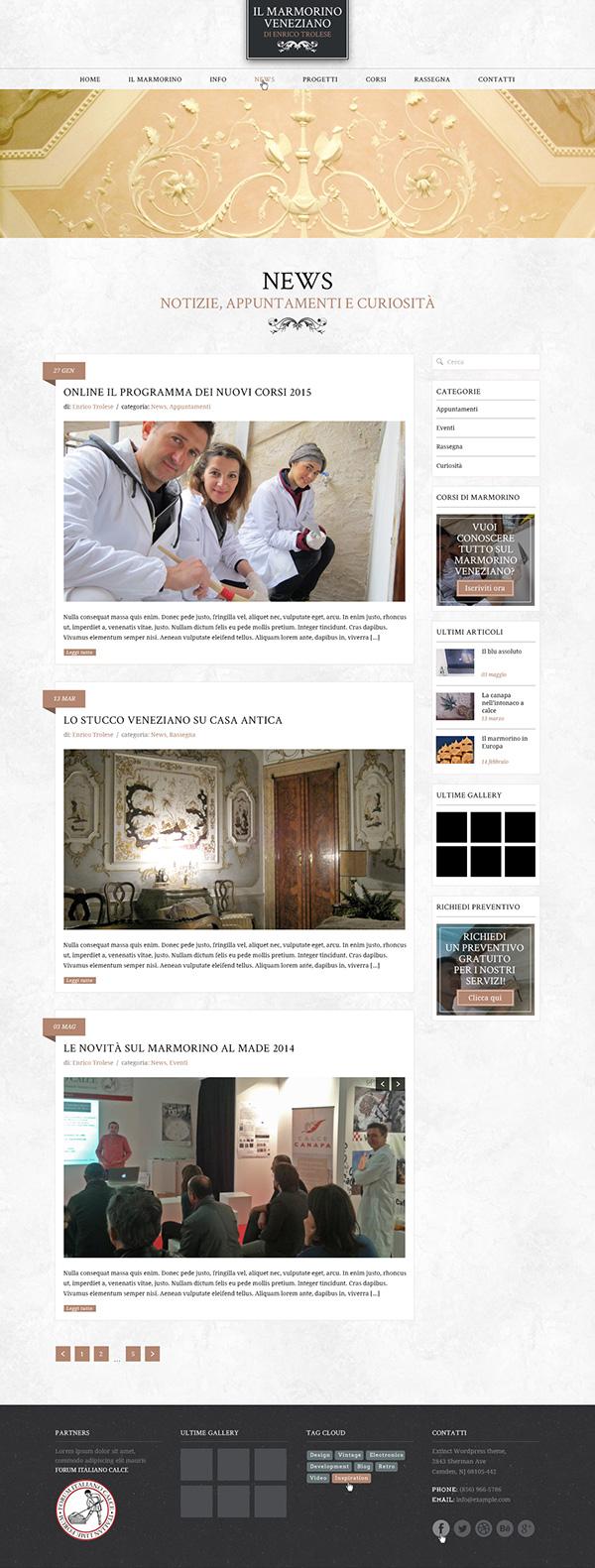 marmorino Venice artwork plaster stucco Web Website design Project Freelance
