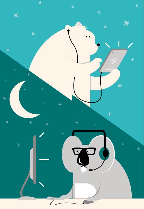 Polar Bear koala kid Fun remote work