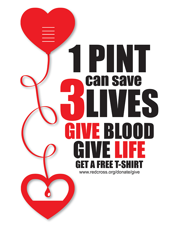 Give Blood Poster on Behance