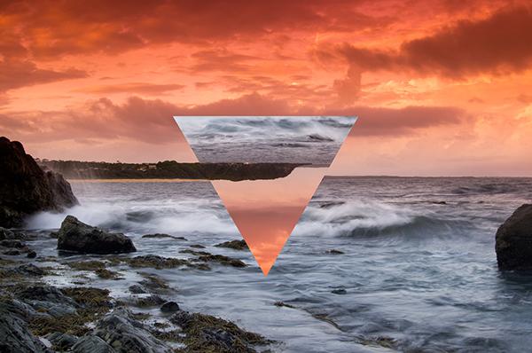 design light Surf water Ocean beach SKY colour clouds Triangles geometric