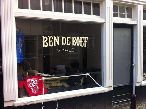 bendeboef tattooshop wondow signpainting drjaysigns