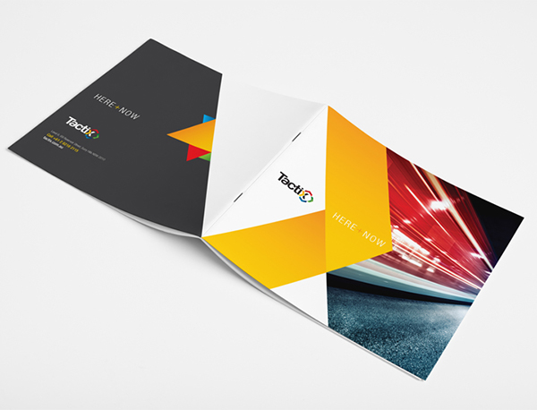 Tactix credentials brochure on behance for Design company usa