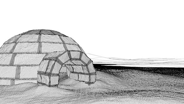 realistic Landscape ice igloo Arctic
