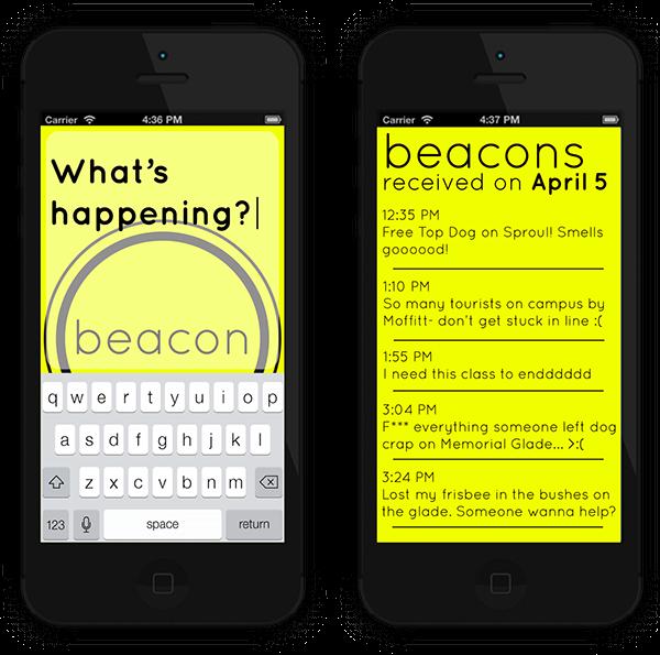 beacon iphone app ios mobile Illustrator