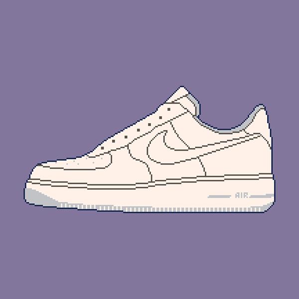 Nike Sneakers Pixel Art