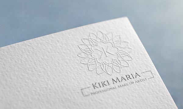 Kiki Maria's Professional Make Up Artist's logo printed on a luxurious paper